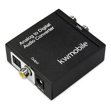 Analog zu Digital Audio Wandler Konverter RCA Klinke 2x Ausgang Toslink Koax