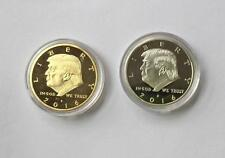 2x 2016 American President Donald Trump Silver GOLD/EAGLE commemoration Coin us
