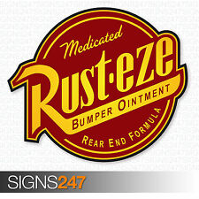 RUSTEZE STICKER Printed Vinyl Car Sticker JDM Bomb Decal Wall Art