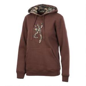 Browning Womens Buckmark POTTING SOIL Hoodie Sweatshirt Sweater Realtree Camo T8