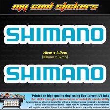2 x Shimano 20cm Vinyl Sticker Decal, for Boat 4X4 Car Tacklebox Esky Fishing