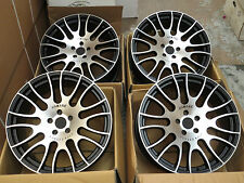 "20""  ALLOY WHEELS ALLOYS/RIMS BLACK MACHINED"