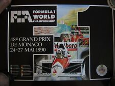 Monaco  Grand Prix - Alain Prost Formula 1 Motorsports Poster & stickers & photo