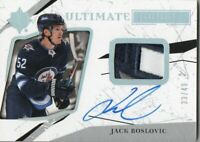 17-18 ULTIMATE COLLECTION ROOKIES SPECTRUM SILVER AUTO PATCH JACK ROSLOVIC /49