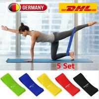 Fitnessbänder Sport Fitnessband Gymnastikband Widerstandsband Latexband 5 Set DE