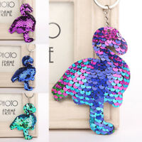Mermaid Sequins Keychain Handbag Pendant Flamingo Keyring Bag Accessories Vh