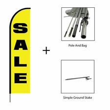 Sale Feather Flag Swooper Banner Pole Kit Outdoor Advertising Sign, 15ft Yellow