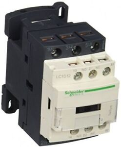 Schneider Electric(LC1D12B7) 3 Pole TeSys D Contactor 5.5kW 7.5HP 24V AC Coil