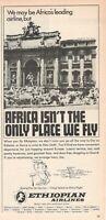 1969 Original Advertising' Ethiopian Airlines Company Aerial Fountain Trevi Roma