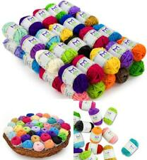 40 Acrylic Yarn Skeins Assorted Colors Huge Lot Mixed Acrylic Yarn Wool Balls