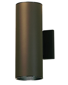 KICHLER 2-Light Architectural Bronze Outdoor Wall Cylinder Light 9244AZ