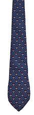 Men's New Neck Tie, Short, Blue Red White dot design by Goldlion
