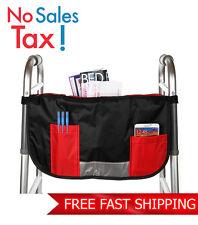 Home-X Walker Accessories Wheelchair Secure Pocket Pouch Organizer Hands Free