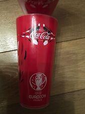 UEFA euro 2016 Francia Coleccionable Rojo Bebidas Souvenir ecocup Coca Cola Coke 50cl