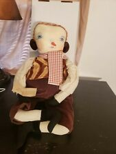 Joe Spencer Sherwood Snowman Doll Decoration Holiday Winter Christmas Folk Art