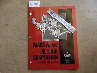 4-2000 Mack Truck AL & ALII Air Suspension Service Manual OEM 14-101