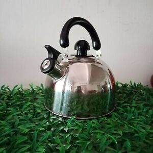 2 Littre STAINESS STEEL WHISTLED TEA  KETTLE  with plastic handle Free Delivery
