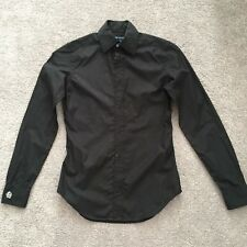 Ralph Lauren Black Cotton Slim Fit Women's Shirt Size 2