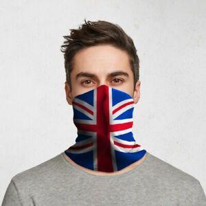 Union Jack British Flag - Reusable Cycling Face Covering Mask Ski Biker Bandana