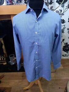 "Men's Polo Ralph Lauren Slim fit Stripe Blue Long sleeve Shirt 15.1/2""/ 32-33cm"
