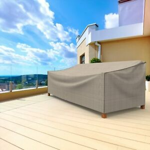 Premium Patio Sofa Cover Waterproof Outdoor Garden Heavy Duty Large Two-Tone Tan