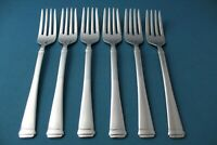 "6 Salad Forks Mikasa HARMONY Glossy 18/10 Stainless China NEW 7 1/2"""