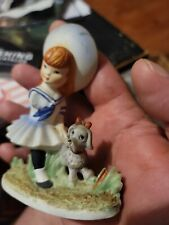 Lefton hand painted china KW231 japan ballerina little girl and dog vintage