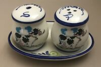 Ceramic Hand Painted In Portugal Salt and Pepper Shaker Set