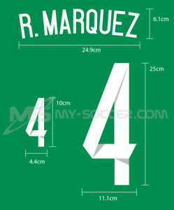 MEXICO Home World Cup 2014 REPRODUCTION PU Name Number