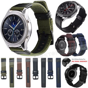 Leather+Nylon Band Strap For Samsung Galaxy Watch Gear S2 S3 SPORT 42/46 Active