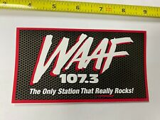 WAAF 107.3 sticker promo Rare