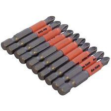 10pc Skid Prevention Drill Bits 50mm Non Slip Phillips Heads Power Bits PZ#2