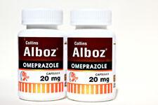 Omeprazole 20mg Otc 120 capsules Acid Reflux & Heartburn Reducer 2 Bottles