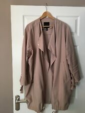 New Look Waterfall Duster Jacket Blush/Nude Size UK 16