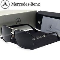 Mercedes Brand Men's Sunglasses Polarized Classic UV400 Men Benz Glasses 2019