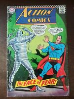 Action Comics #349 (1967) Superman vs The Mummy! Supergirl Story! Krypto app!