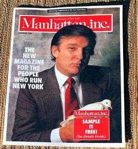 PROMO AD BROCHURE Donald J. Trump - Manhattan Inc. Magazine - November 1985