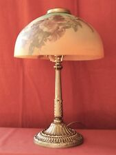 1930s ART NOUVEAU LAMP W/ REVERSE PAINTED SHADE– PITTSBURGH