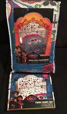NWT Bright/Colorful Disney Pixar Coco Twin /Full Comforter & 3 Pc Twin Sheet Set