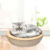 Pet Cat Corrugated Paper Cave Play Kitty Scratch Bowl House Bed