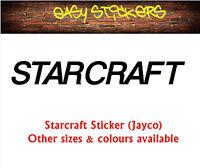 290mm old style Starcraft Jayco Caravan Retro Replacement Sticker Repair RV
