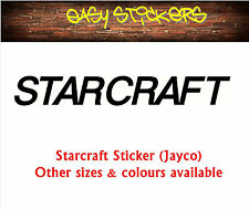290mm old style Starcraft Jayco Caravan Retro Replacement Sticker - Any Colour!