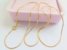 Real Fine Solid 18K Yellow Gold New Style Women Snake Chain Necklace/ 2.4g