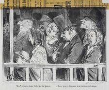Honore Daumier France 1808 -1879 Lithograph Les Bons Parisiens No 1