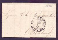 Vorphilabrief Altbrief Stadtpostamt Bremen 1832 Schlüsselstempel Oldenburg (920)