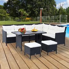 18 tlg.Polyrattan Sitzgruppe Sofagarnitur Gartenset Sessel Hocker Set