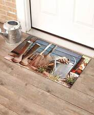 Retro Rustic Porch Welcome Mat Vintage Primitive Garden Pitcher Door Mat
