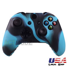 Silicone Gel Rubber Protective Case for Xbox One Controller Game Black Blue Camo