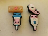 Lot of 4 Medical shoe charms for Crocs shoes. Other uses Craft, Scrapbook