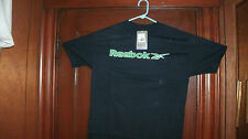 MISCBOX#1Reebok t-shirt S/S navy blue with raised green Reebok size small  NWT